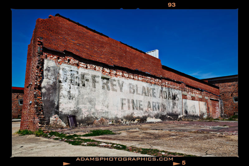 Adams Photographics, Jeffrey Blake Adams Fine Art, sign